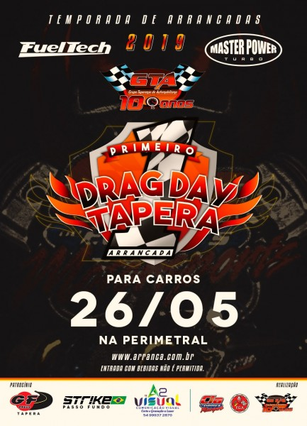 1ª DragDay Tapera para Carros 2019 - 26/05/2019 - Tapera - RS