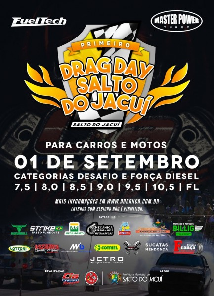 1º Drag Day Salto do Jacuí para Carros e Motos - 01/09/2019 - Salto do Jacuí - RS